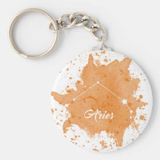 Aries Orange Keychain