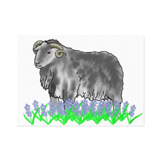 Aries Ram And Bluebells Art Canvas