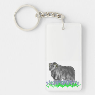 Aries Ram And Bluebells Art Double Sided Key Ring