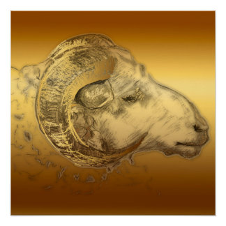 Aries Ram Birthday Zodiac Perfect Poster