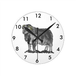 Aries Ram Herdwick Sheep Art Clock