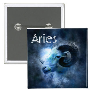 Aries Ram Horoscope Zodiac Sign Button