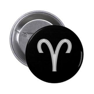 Aries Ram Zodiac Button