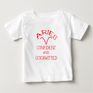 Aries (Red Text) Baby T-Shirt