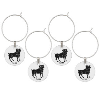 Aries Set of Four Wine Charms