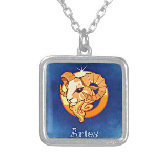 Aries Square Pendant Necklace