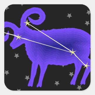 Aries Square Sticker