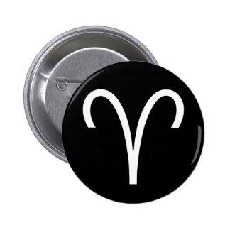 Aries Symbol 6 Cm Round Badge