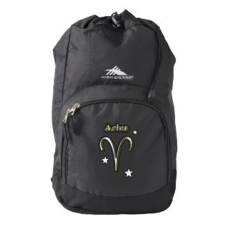 Aries symbol backpack