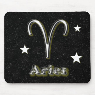 Aries symbol mouse pad