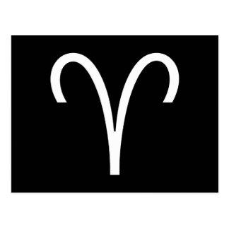 Aries Symbol Postcard