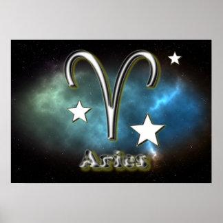 Aries symbol poster
