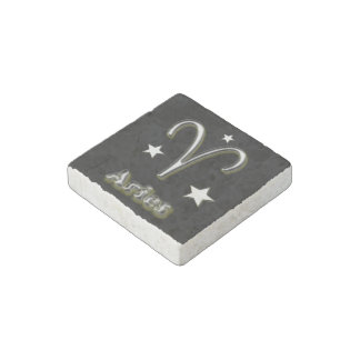 Aries symbol stone magnet