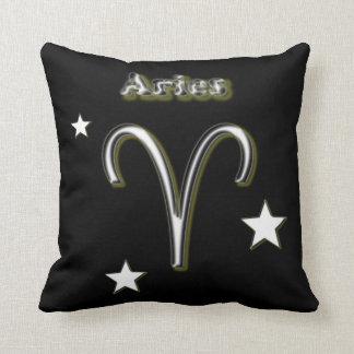 Aries symbol throw pillow