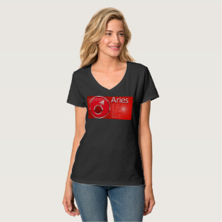 Aries Symbol V-Neck T-Shirt