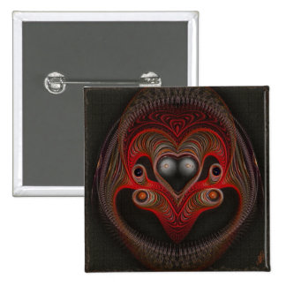 Aries the Ram Abstract Art 15 Cm Square Badge