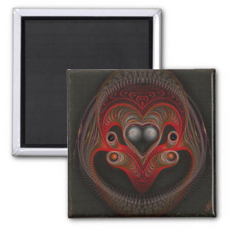 Aries the Ram Abstract Art Square Magnet