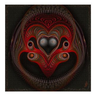 Aries the Ram Abstract Art Poster