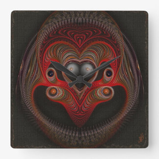 Aries the Ram Abstract Art Square Wall Clock