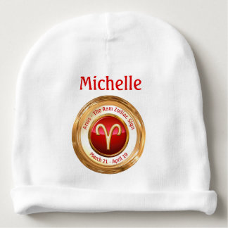 Aries - The Ram Astrological Sign Baby Beanie