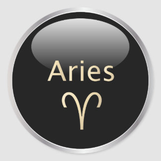 Aries the ram astrology, zodiac star sign stickers