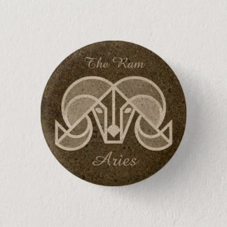 Aries The Ram, Horoscope Zodiac Sign Button