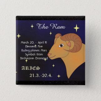 Aries The Ram Horoscope Zodiac Sign Button