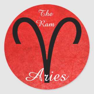 Aries The Ram Zodiac Horoscope Astrology Sticker