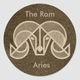 Aries, The Ram, Zodiac Horoscope Sign Sticker
