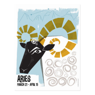 Aries the Ram Zodiac Postcard