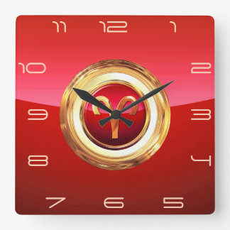 Aries - The Ram Zodiac Sign Clock