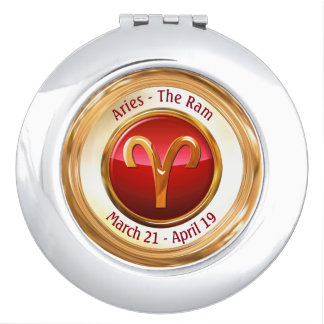 Aries - The Ram Zodiac Sign Compact Mirrors