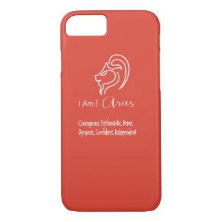 Aries The Ram Zodiac Sign Fiesta Red iPhone 7 Case