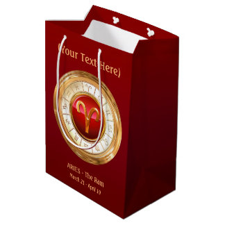 Aries - The Ram Zodiac Sign Medium Gift Bag