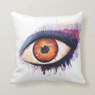 Aries Watercolor Eye | Throw Pillow