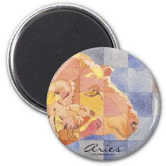 Aries Zodiac 6 Cm Round Magnet