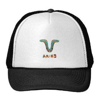 ARIES Zodiac Astrological Astro Symbol Mesh Hats
