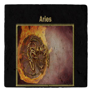 Aries Zodiac Astrology design Trivet