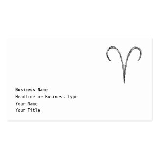 Aries. Zodiac Astrology Sign. Black. Business Card Templates