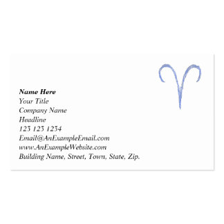 Aries. Zodiac Astrology Sign. Business Card Templates