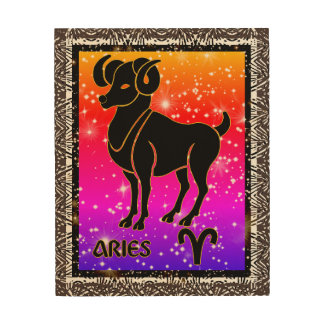 Aries Zodiac Astrology Wood Wall Art