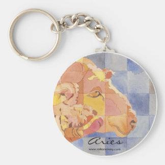 Aries Zodiac Basic Round Button Key Ring