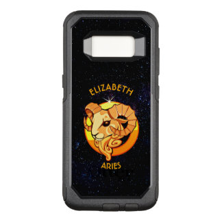 Aries Zodiac Birthday Sign With Your Custom Name OtterBox Commuter Samsung Galaxy S8 Case