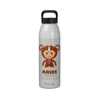 Aries Zodiac Bottle for kids Reusable Water Bottles