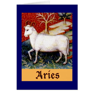 Aries Zodiac Stationery Note Card