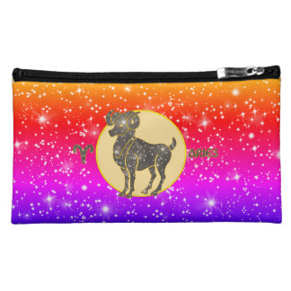 Aries Zodiac Cosmetic Accessory Bags
