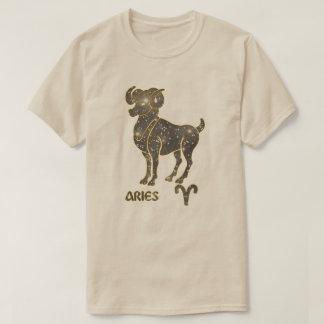 Aries Zodiac Diamond Stars Modern T-Shirt