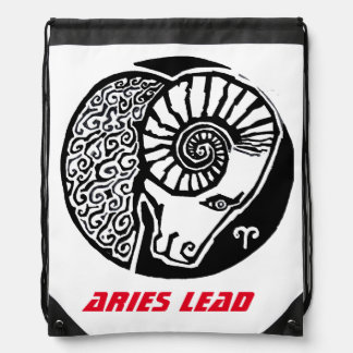 Aries - Zodiac Drawstring bag