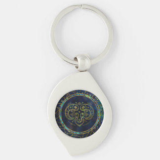 Aries Zodiac Gold Abalone on Constellation Key Ring