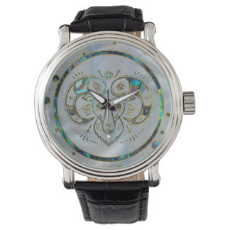 Aries Zodiac Gold Abalone on Constellation Watch